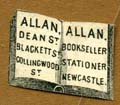 Allan Dean St Bookseller Blackets Collingwood St, Stationer, Newcastle