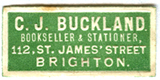 C J Buckland Bookseller and Stationer, James Street Brighton