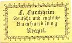 F Furchheim Deutsche und englische Buchhandlung Neapel