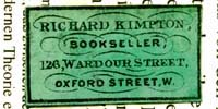 Richard Kimpton Bookseller 126 Wardour Street Oxford Street W