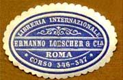 Libreria Internazionale Ermano Loescher Cia Roma Corso 346 347