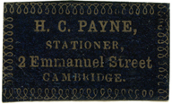 H C Payne Stationer, 2 Emmanuel St, Cambridge
