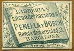 Libreria y Encuadernaciones Penella y Bosch, Ronda Universidad 3, Barcelona