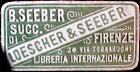 B Seeber Succ Loescher Seber Firenze Libreria Internazionale