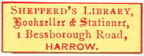 Sheppherd's Library, Bookseller and Stationer, 1 Bessborough Rd, Harrow