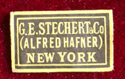 G E Stechert & Co (Alfred Hafner) New York