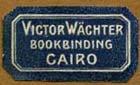 Victor Wachter Waechter Bookbinding Cairo