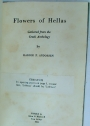 Flowers of Hellas: Gathered from the Greek Anthology.