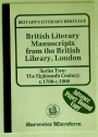British Literary Manuscripts from the British Library, London. Series Two: The Eighteenth Century, c.1700-c.1800.