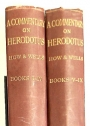 A Commentary on Herodotus in two Volumes (Books 1 - 4, Books 5 - 9). With Introduction and Appendixes.