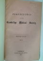 Proceedings of the Cambridge Medical Society, 1888 - 1896.