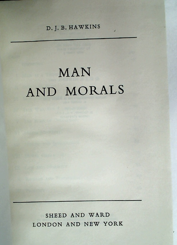 Man and Morals.