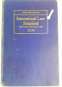 International Law Situations with Solutions and Notes 1939.