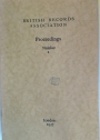 Proceedings. Number 2, 1937. (Conference Proceedings 1936, Fletcher: Survey of Local Societies)