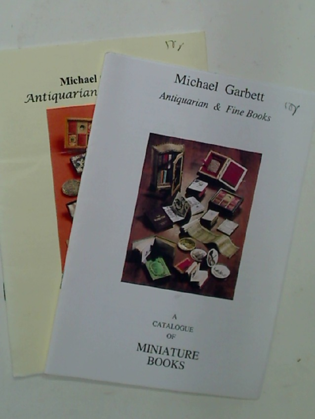 Michael Garbett: A Catalogue of Miniature Books. No 16 (1998), No 20 (2002).
