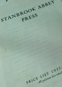Stanbrook Abbey Press. Price List, 1977 - 1978.