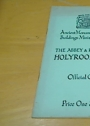 The Abbey and Palace of Holyroodhouse. Official Guide.