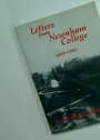 Letters from Newnham College, 1889 - 1892.