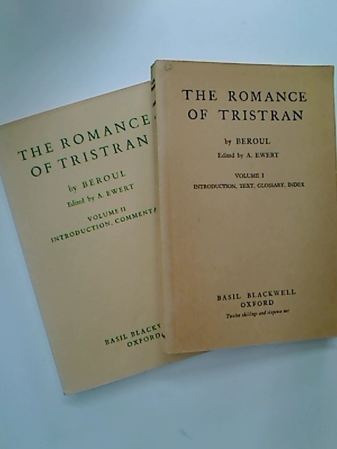 The Romance of Tristran. A Poem of the Twelfth Century. Volume 1: Introduction, Text, Glossary, Index. Volume 2: Introduction, Commentary.