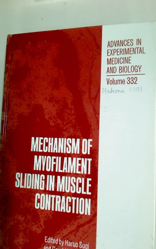 Mechanism of Myofilament Sliding in Muscle Contraction.