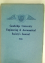 Cambridge University Engineering and Aeronautical Society's Journal. Volume 8, 1933.