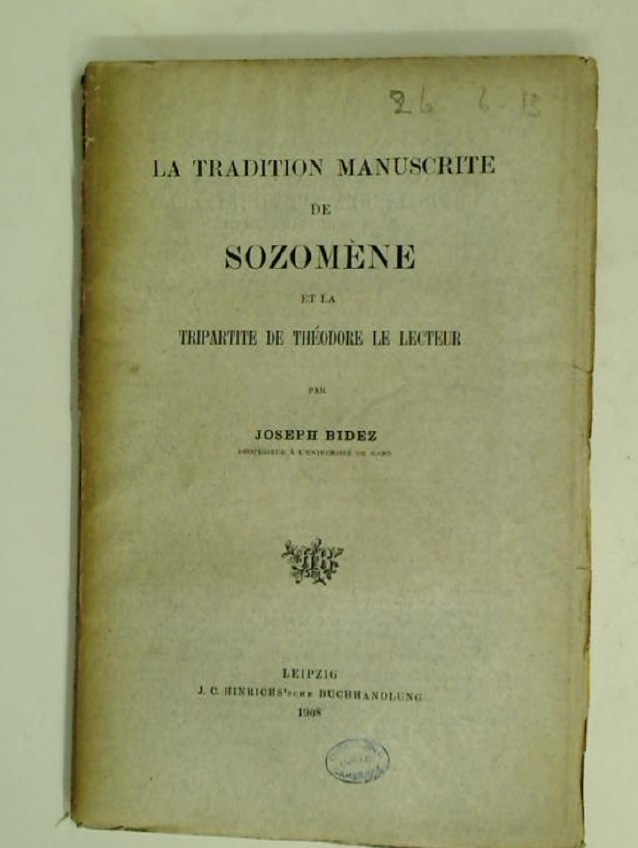 La Tradition Manuscrite de Sozomène.