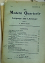 The Modern Quarterly of Language and Literature. Number 3, November 1898.