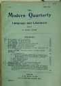 The Modern Quarterly of Language and Literature. Number 4, April 1899.