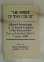 The Spirit of the Court. Selected Proceedings of the Fourth Congress of the International Courtly Literature Society, Toronto 1983.