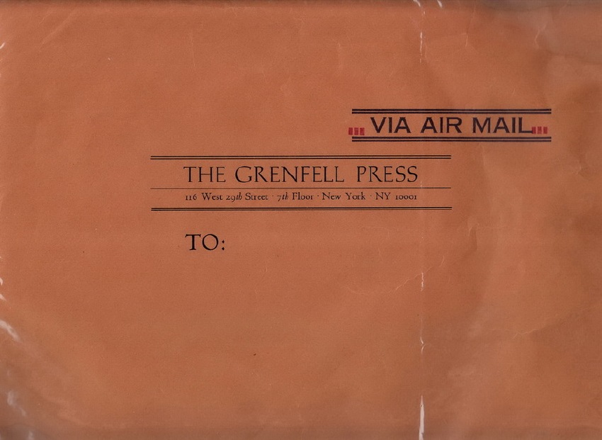 Grenfell Press: Collection of Prospectus and Announcements and Catalogue.