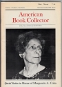 American Book Collector: Vol. 1, No. 5, Sept. / Oct. 1980.