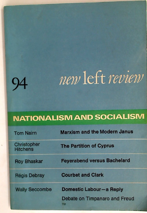 Détente and Destabilization: Report from Cyprus. Essay in New Left Review No 94, 1975.