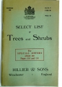 Select List of Trees and Shrubs.