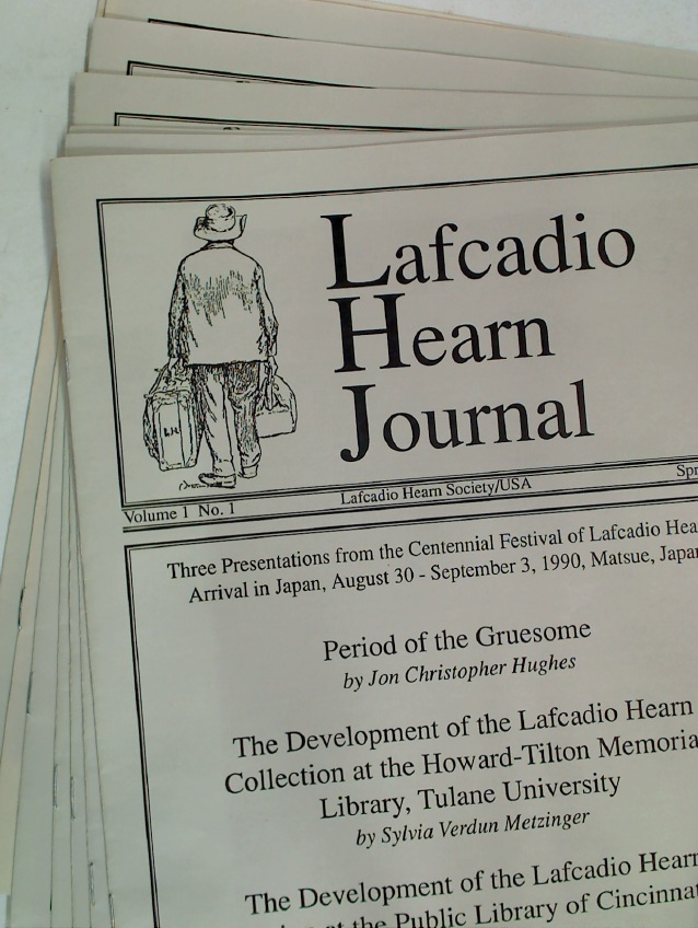 Lafcadio Hearn Journal. Volume 1 (issues 1 & 2), Volume 2 (issue 1), Volume 3 (issues 1 & 2), Volume 4 and 5 (one issues each), 7 issues.