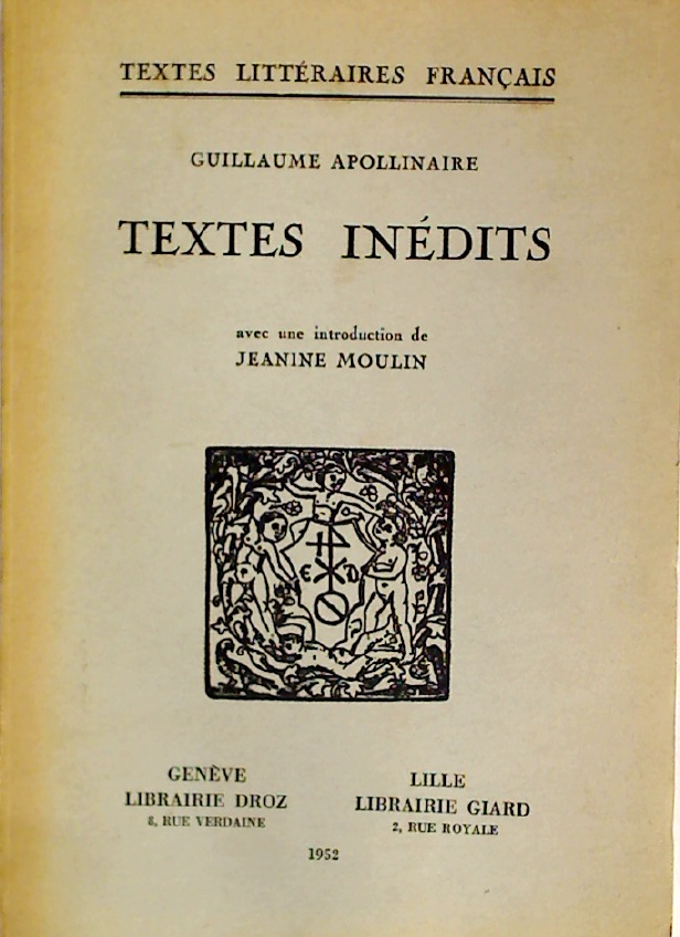 Textes Inédits.