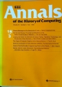 IEEE Annals of the History of Computing. Volume 16, Number 3.