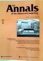 IEEE Annals of the History of Computing. Volume 17, Number 4.