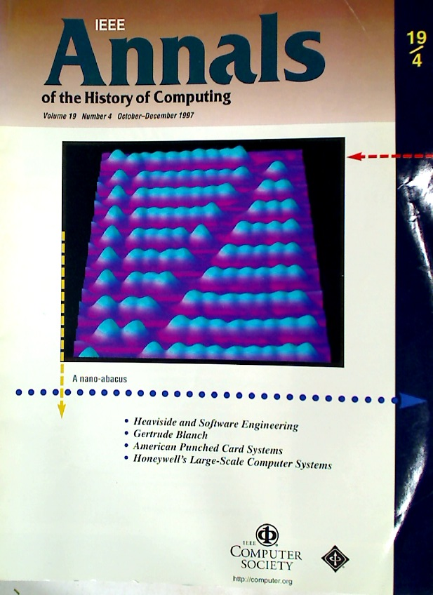 IEEE Annals of the History of Computing. Volume 19, Number 4.