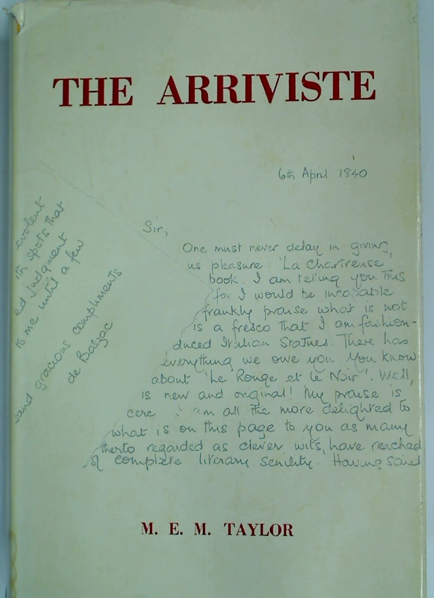 The Arriviste: The Origins and Evolution of the \'Arriviste\' in the 19th Century French Novel.