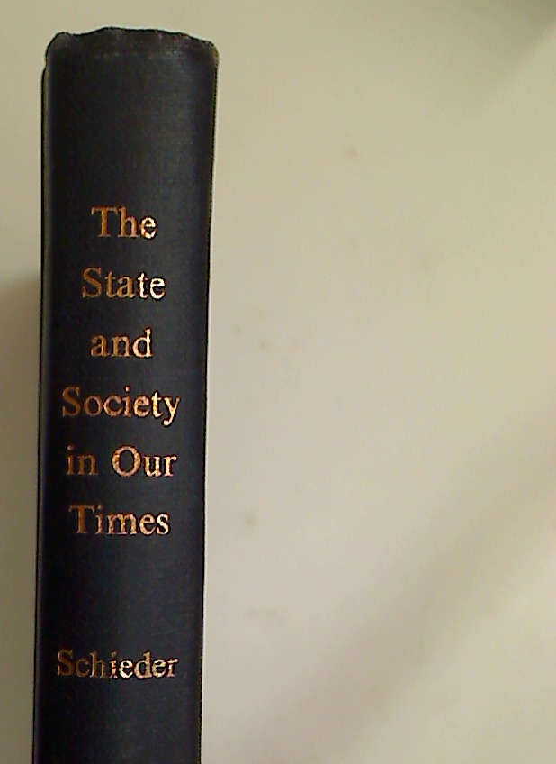 The State and Society in Our Times. Studies in the History of the Nineteenth and Twentieth Centuries.