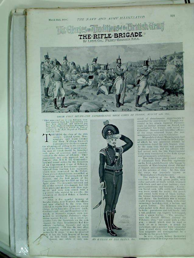 Glories and Traditions of the British Army: The Rifle Brigade (=The Navy and Army Illustrated. 11 March 1898)