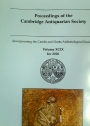 Proceedings of the Cambridge Antiquarian Society. Volume 99 for 2010.