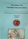 Proceedings of the Cambridge Antiquarian Society. Volume 102 for 2013.