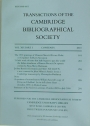 Transactions of the Cambridge Bibliographical Society. Volume 14, Part 3.