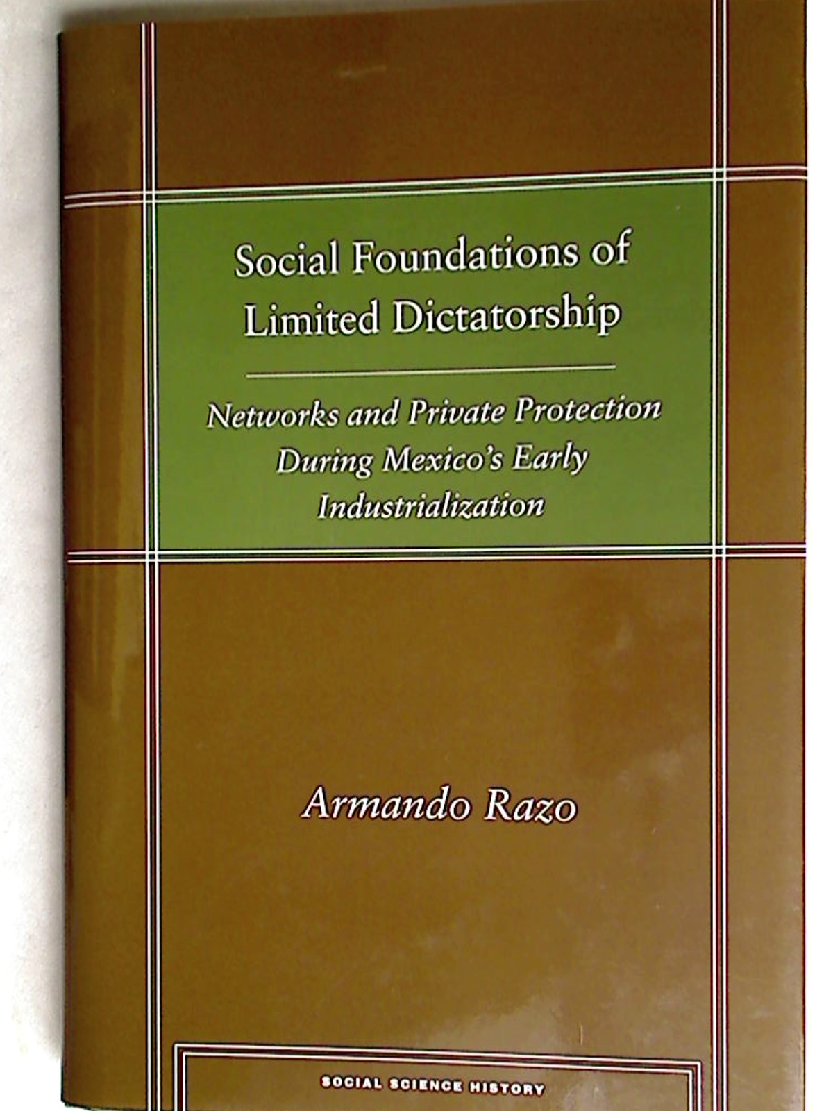 Social Foundations of Limited Dictatorship: Networks and Private Protection During Mexico's Early Industrialization.
