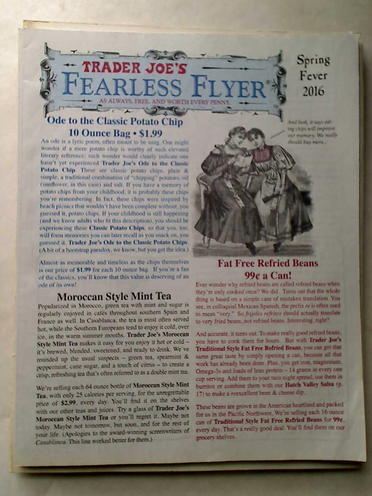 Trader Joe's Fearless Flyer. Spring Fever 2016. CA Edition.