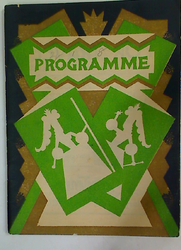The Festival Theatre Programme. 30th November 1929.