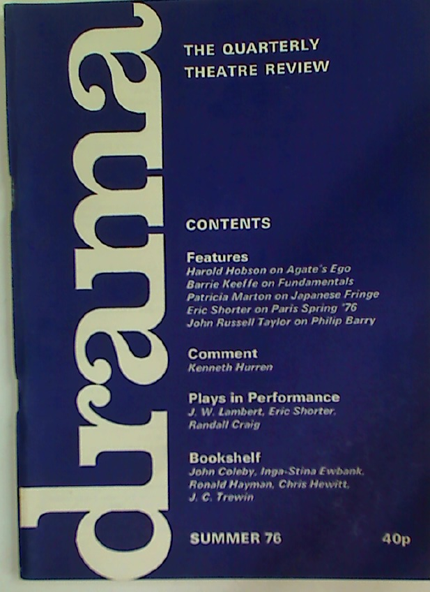 Drama. The Quarterly Theatre Review, Summer 1976.