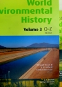 Encyclopedia of World Environmental History. Volumes 1, 2, and 3. Complete Set.