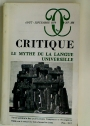Le Mythe de la Langue Universelle (Critique, No 387 / 388, Aout-Septembre 1979)